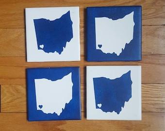 Cincinnati Coasters - Ohio Drink Coasters, Set of 4