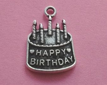 10 pcs Birthday Cake Charm -Sweet 16 - Quinceanera- CS2073
