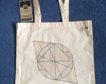 Hand Painted Organic Cotton Tote