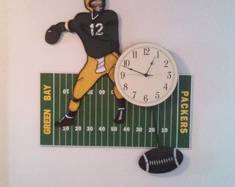Custom NFL Quarterback Team Clock
