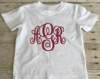 Girls monogrammed T-shirt