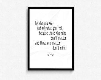 Dr Seuss Quote Frame, Framed Quotes, Quote, Framed Print, Quote Prints, Typography, Quotes in Frames, Digital Print, Quote Print, Frame, UK