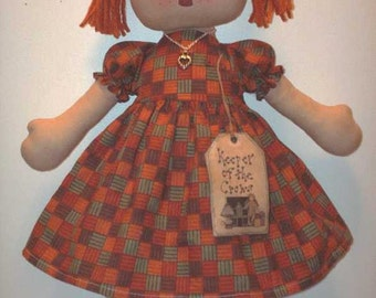 """Handmade """"Keeper of the Crows"""" Country Prim Rag Doll"""