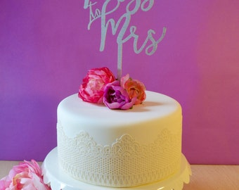 Wedding Cake Topper - From Miss to Mrs - Bridal Shower - Bachelorette Party