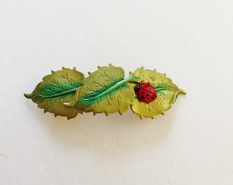 Barrette Ladybug, Love Bug , Hand Painted