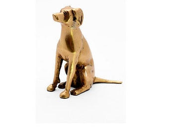 Brass Sitting Dog