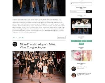 Premade Blogger Template responsive blogger template lifestyle fashion beauty food makeup feminine blog theme - Aurelia