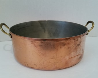 Vintage Tagus Portuguese Copper  Coated Pan