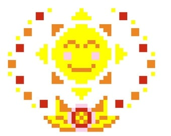 Sunshine - Sun Cross Stitch Pattern, PDF Format, Instant Download