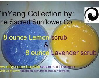 "The Sacred Sunflower Co. ""Sweet Grit"" Sugar Scrub-Yin-Yang Collection"