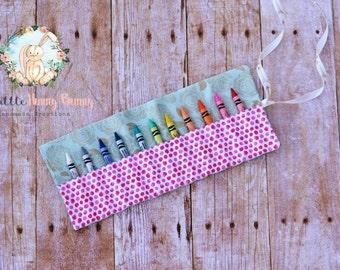 Crayon Roll|Crayon Roll Up Holder|Toddler Gifts|Toddler Activities|Back to School Supplies|Girl Gift Ideas|Preschool Supplies