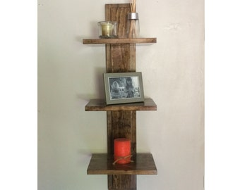 Decorative Wall Shelf with 3 Shelves