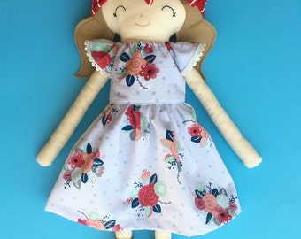 One custom made-to-order fabric doll