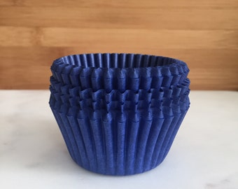 Solid Navy Blue Cupcake Liners, Standard Sized, Baking Cups (50)