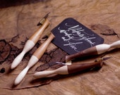 Calligraphy pointed pen : wood oblique pen holder, 2 tones