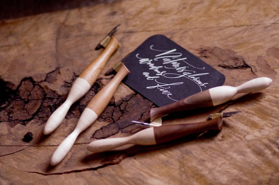 Calligraphy Pointed Pen Wood Oblique Pen Holder 2 By