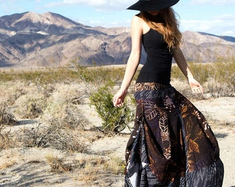 Boho Maxi Skirt, Gypsy Clothing, Womens Skirt, Long Skirt, Bohemian Skirt, Summer Skirt, African Skirt, Music Festival Skirt, Fairy Skirt