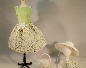 OOAK Vintage Barbie or Silkstone Movie Date Fashion Pak Paris in the Spring Time