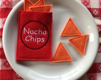 Felt Food Nacho Chips Set of 7