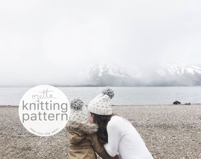 Featured listing image: Knitting Pattern Combo / Fair Isle Knit Hat With Pom Pom / THE ALPINE hat Combo / PDF
