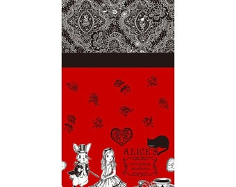 Judie's Cotton Alice in Wonderland - Alice Panel Lace L35-30 red, Lecien of Japan, 1 yard