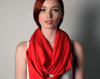GIrlfriend, Girlfriend Gift, Gifts For Mom, Red Scarf, Gifts For Women, Birthday Gifts For Her, Gifts for Girlfriend, Circle Scarf