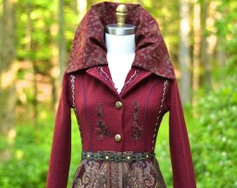 Custom sweater COAT for CJ. Boho Fantasy clothing. 2702