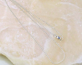 Sterling Silver Rolo Chain Necklace, SALE- Discontinued, Delicate Link Chain 925 Silver- Choose 16, 18, or 20 in- Sterling Silver Chain Only