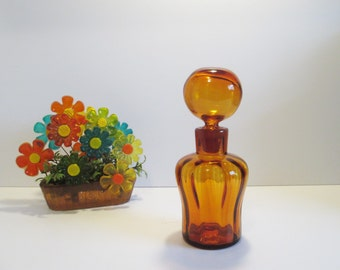 Vintage BLENKO Glass  Decanter 669 in Honey