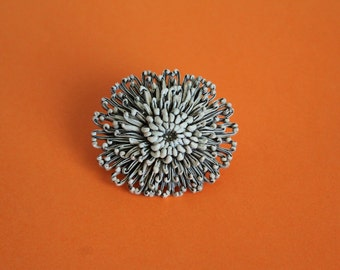1960's Celluloid Chrysanthemum Brooche