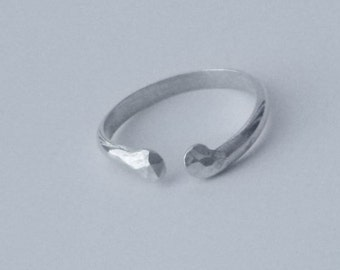 Open Sterling Silver Ring - Hypoallergenic Silver Ring - Sterling Silver Thumb Ring - Adjustable Silver Ring - Argentium Silver Ring
