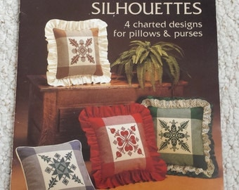 Hopscotch Silhouettes - Cross Stitch Charts for Pillows and Purses, Leisure Arts 287