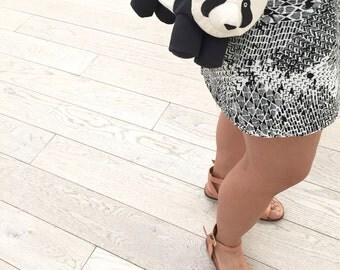 Panda Purse with Detachable Shoulder Strap by Dandyrions/ Women's Purses/ Handbags