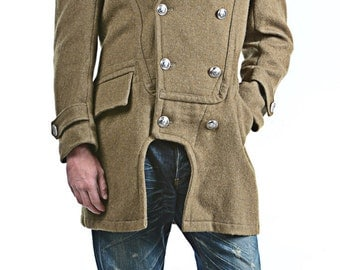 1950's REDESIGNED/ REVAMPED Authentic Greek Army MILITARY Style Vintage Wool Overcoat / Coat by Top Rank Vintage (Unissued / Never Worn)