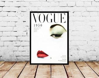 1950 Vogue Cover - Doe Eye by Erwin Blumenfeld- Multiple Sizes