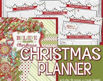 Christmas Planner Kit, Holiday Planning Kit, Gift Planner, Holiday Organizer, Christmas BINDER - PRINTABLE Instant Download
