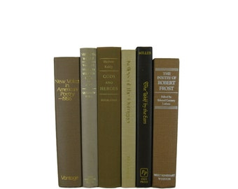 Tan  Brown  Books, Book Collection, Used Books, Color Accent, Decor, Book Lover, Gift, Book Gift, Vintage Books