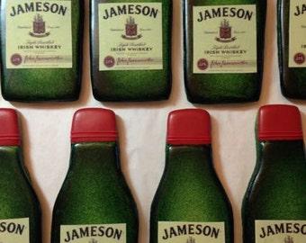 Jameson Irish Whiskey bottle cookies