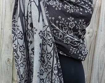 Jacquard Ring Sling - MahoganyTree of Life Black