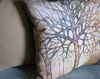 Set of 2 Throw Pillows Ancient Trees