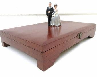 Vintage Flatware Chest | Silverware Chest | Wood Storage Box | Silverware Box | Dovetail Box