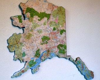 ALASKA State Map Wall Art (Medium size)