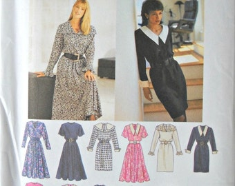 Simplicity 8726 Design Your Own Dress Pattern, Sizes 8, 10, 12, 14, Vintage 1996
