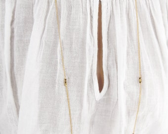 """Long gold necklace, long layering necklace, 40"""" necklace, station necklace"""