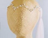 Crystal Halo, Crystal Headband, Rhinestone Halo, Rhinstone Headband, Bridal Head Piece, bridal Hair piece, GOLD headband, Gilded Head Piece