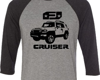 FJ Cruiser T-shirt-4x4 Tee,Off Road tshirt,Baseball T-Shirt-Off Road Gifts,gift for him,car gift, FJ Cruiser tee