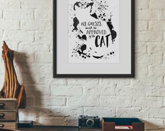 Cat Illustration Print - A4/A5