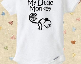Nazca Lines Monkey Baby Onesie My Little Monkey