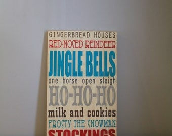 Christmas Subway Art. Typography Word Art Sign.  Vintage style Subway sign. Vintage Christmas Sign.  Christmas Decor. Christmas Gift.