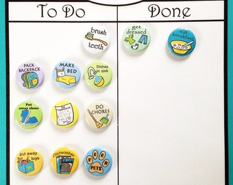 Chore Chart Chevron design. Laminated with 12 magnets many colors 8x10